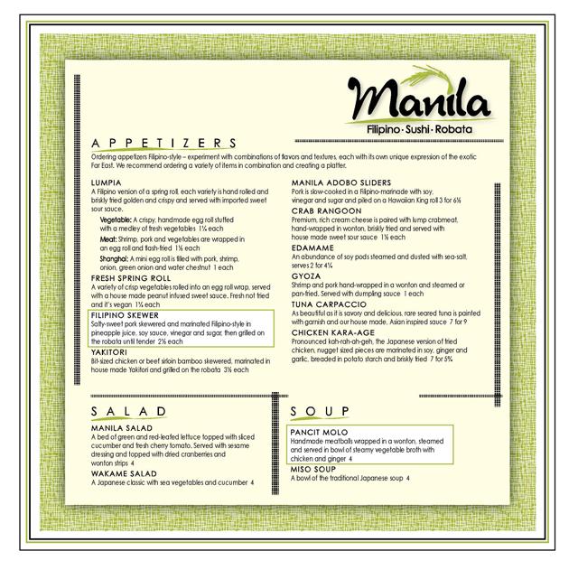 manila resto restaurant menu design menubuilder