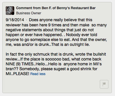 Benny Comment Two
